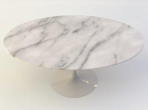 obj tulip oval table
