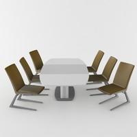 3d model modern dining table