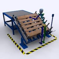 machine pallet 3d model