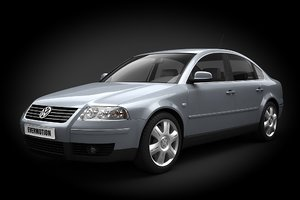 3d car volkswagen passat b5 model