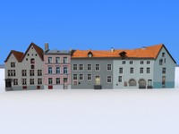 3d 10 houses polys