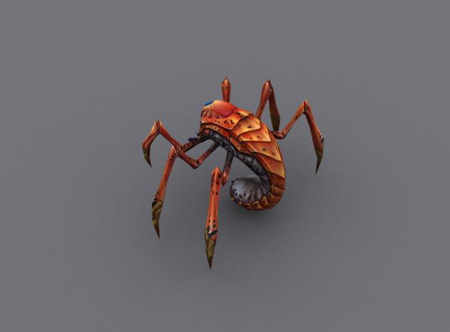 scorpion-like arachnid animation 3d max