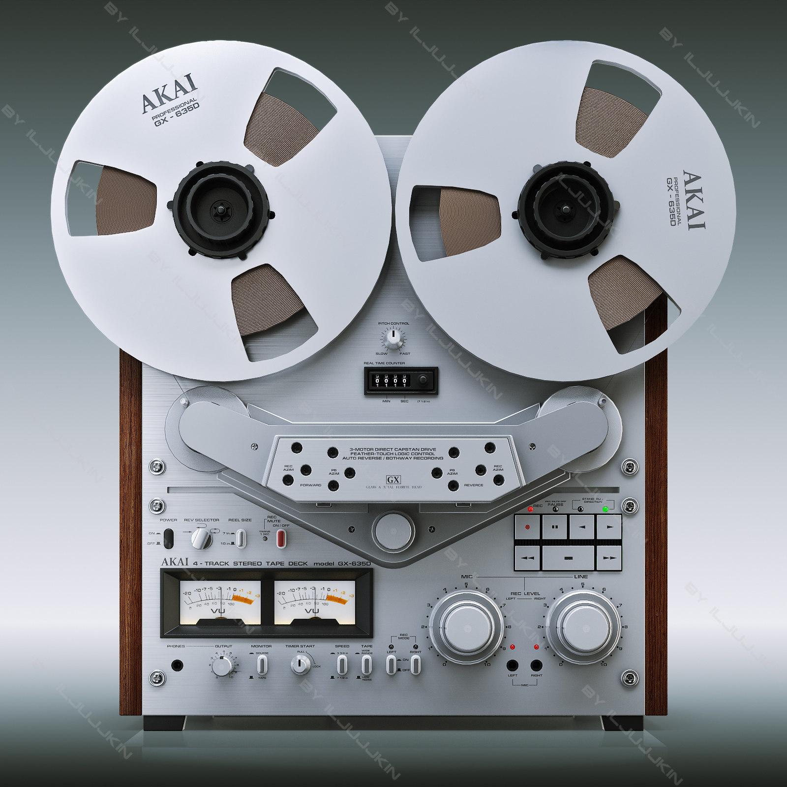 3d reel tape recorder akai