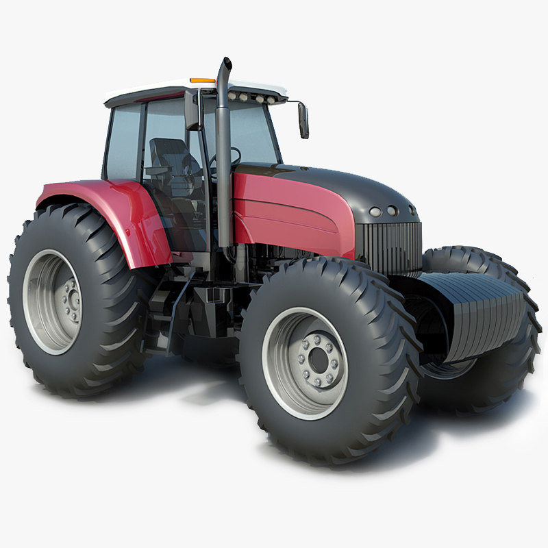agricultural tractor buhler 3d model