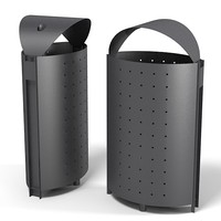 Benito Litter bin spam garbage container garden street equipment