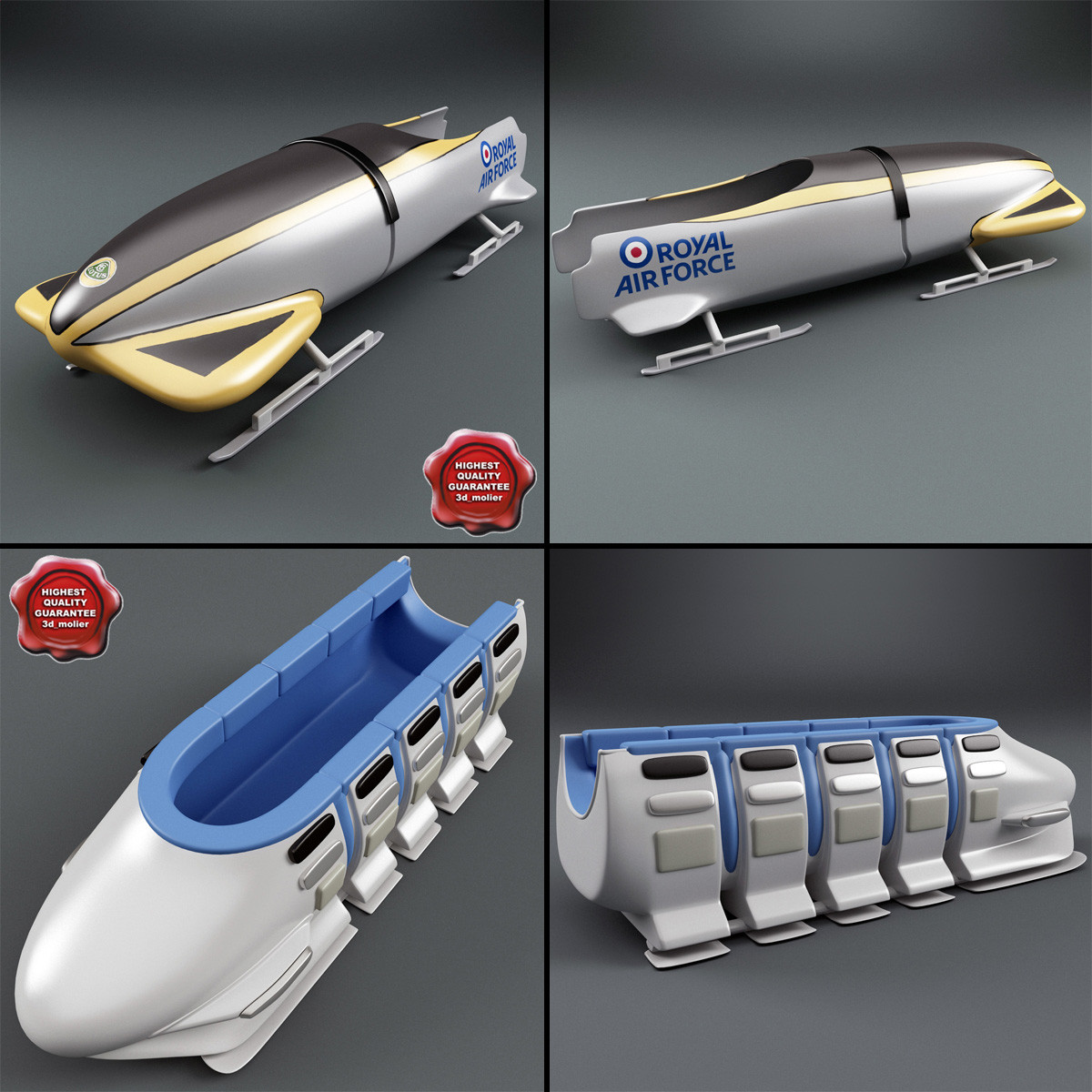 bobsleigh sleds 3d 3ds