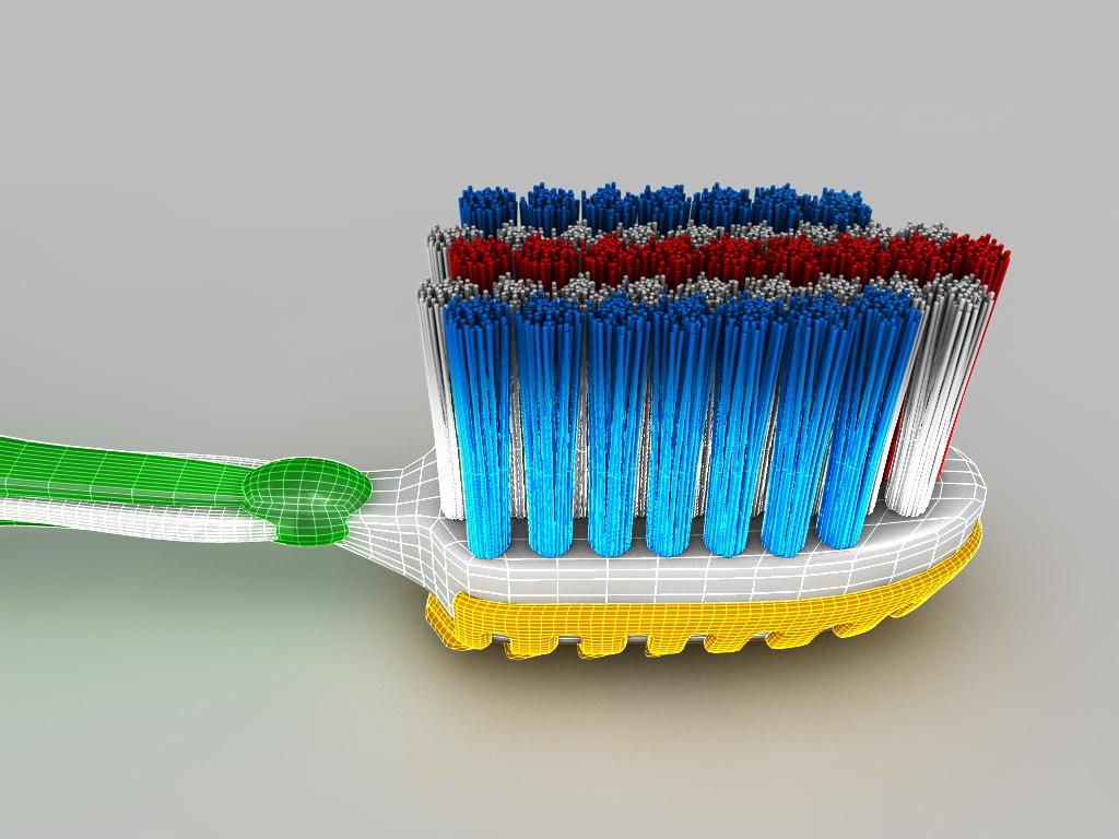 toothbrush brush tooth 3d model