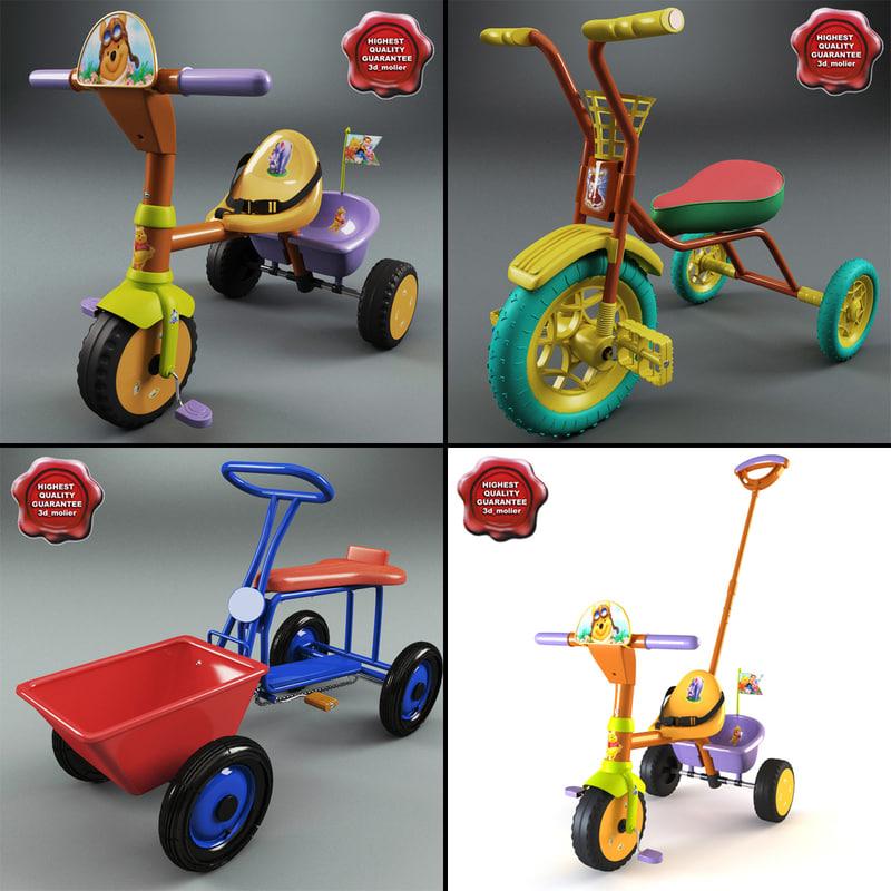 3d model children tricycles
