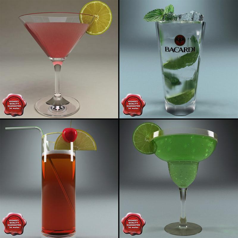 3d model cocktails v1