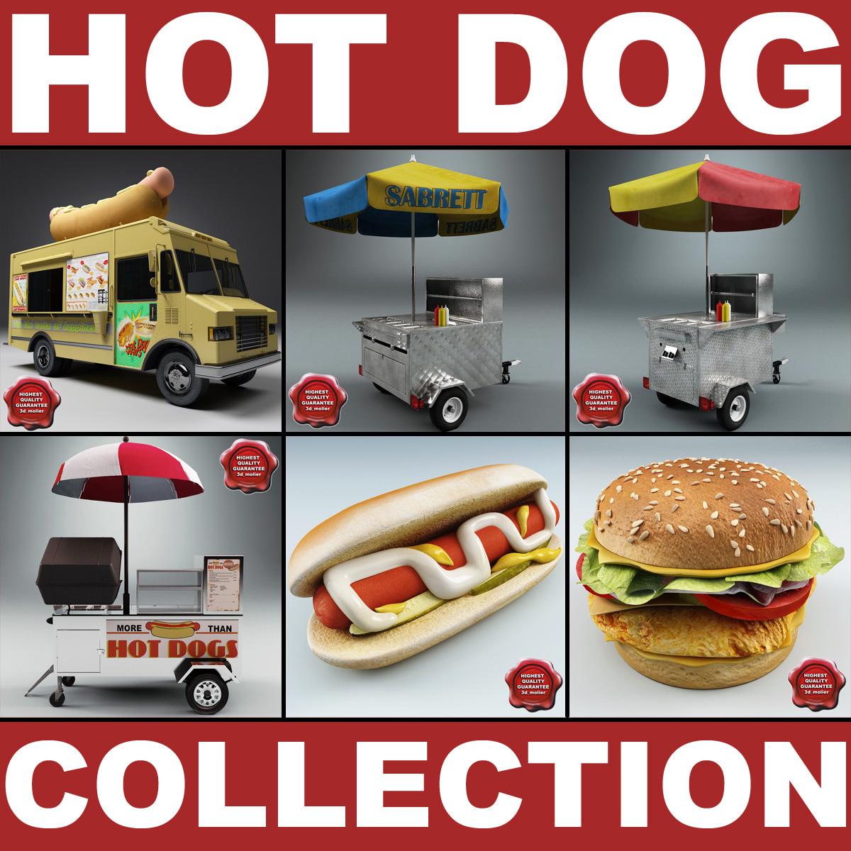 hot dog v2 3d model