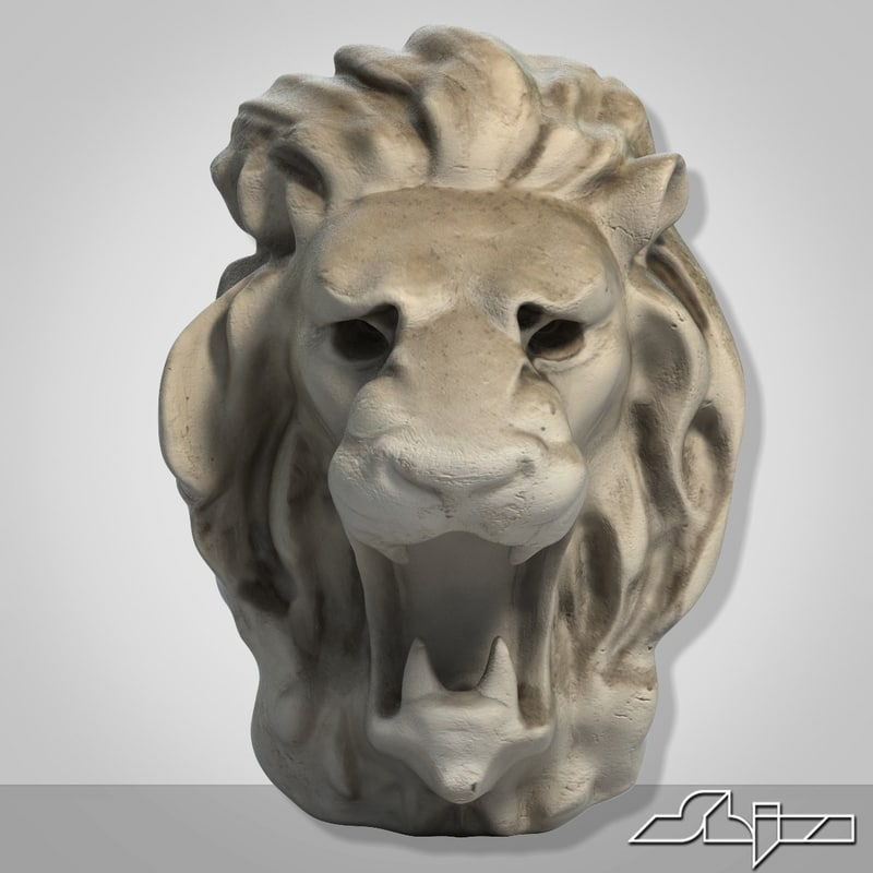 3d decor lion head
