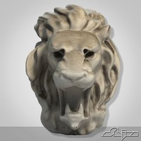 Lion Head Sculpture