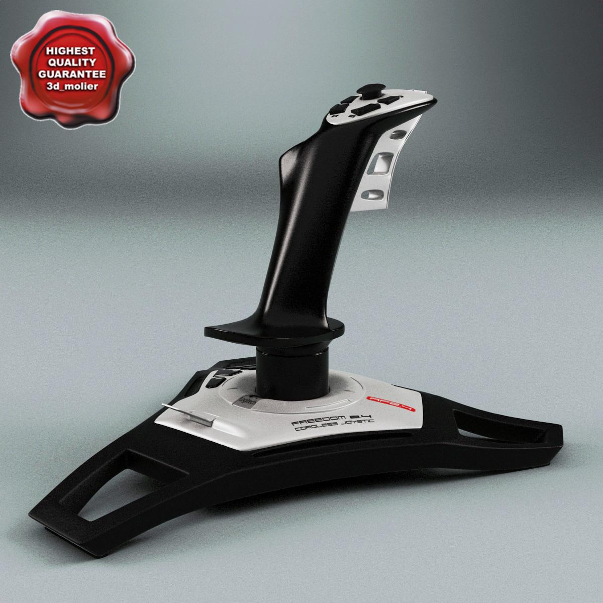3d model logitech joystick freedom