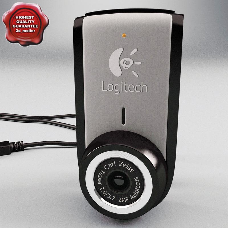 3d ma logitech portable webcam c905