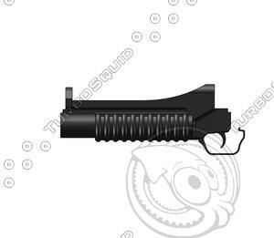 barrel m203 grenade launcher ige