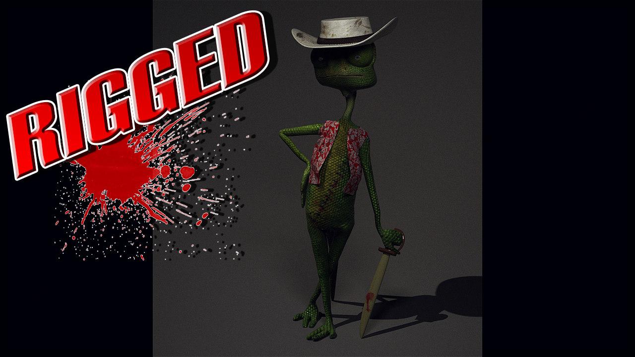 3d model lizard