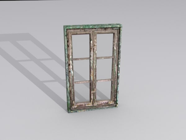 free window glass 3d model