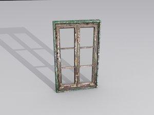 free window glass 3d model