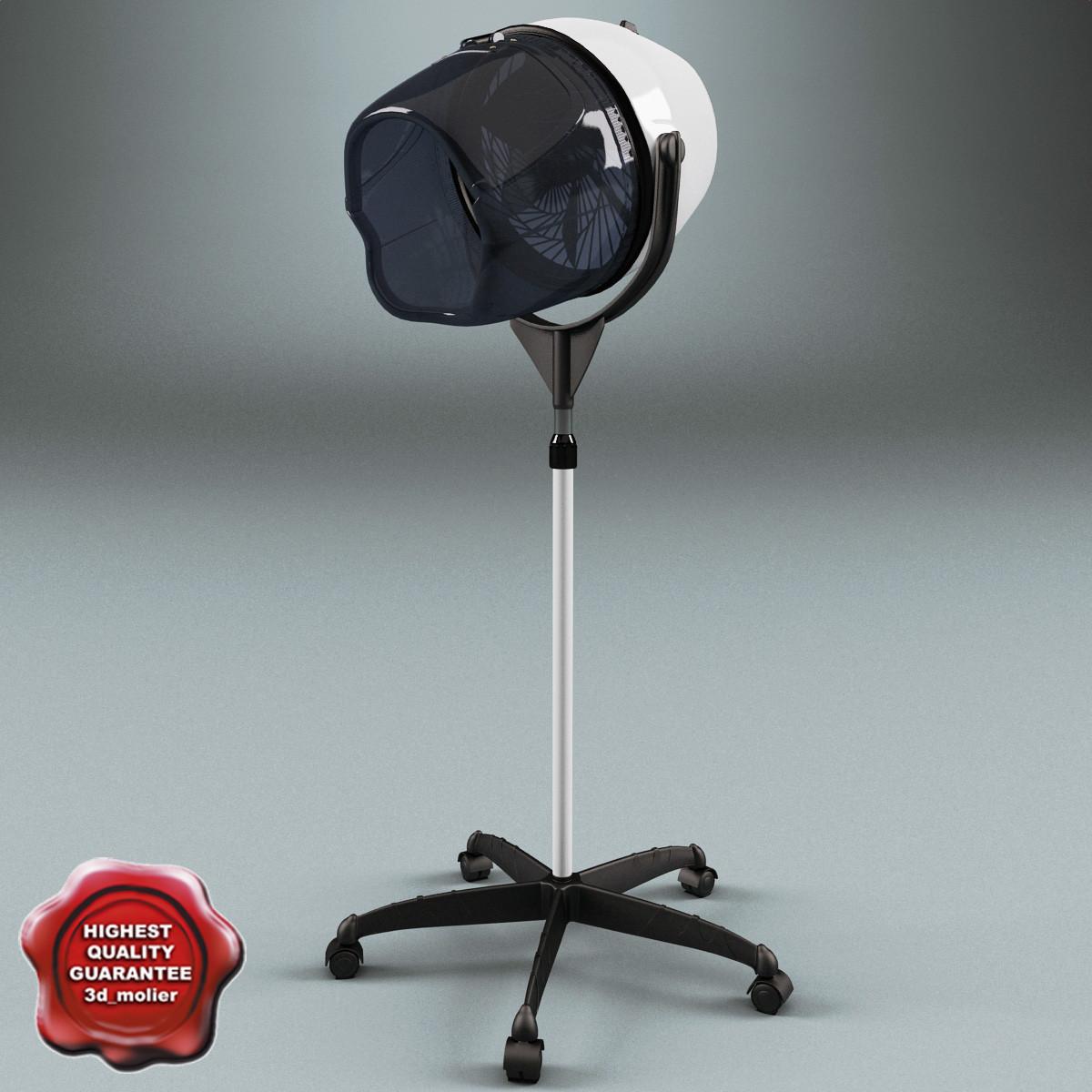 salon stand hair dryer 3d model