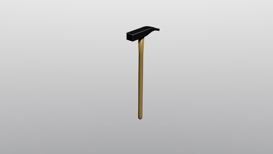 free obj model hammer claw