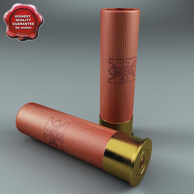 shotgun shell 3d max