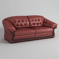 salisbury couch leather sofa 3d model