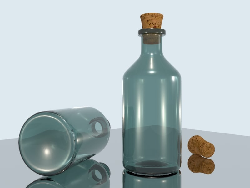 bottle cork 3ds