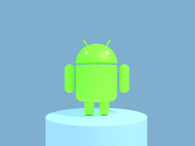 3d model android mascot logo