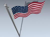 flag united states 3d model
