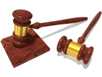 gavel board wood 3d model