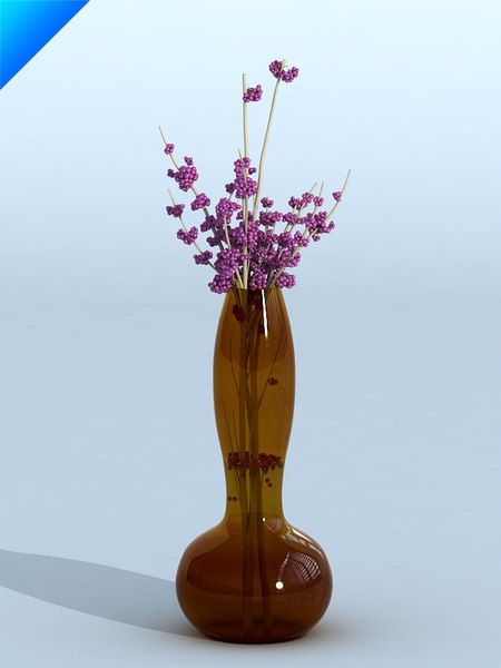 maya glass vase flower