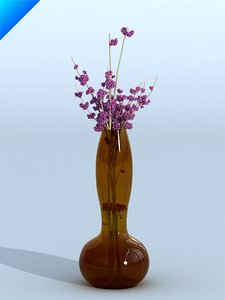 maya glass vase flower
