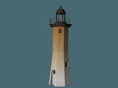 3d model of lighthouse light