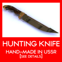hunting knife ussr 3d model