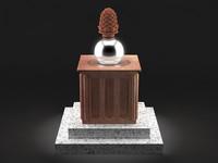 3d pine cone statue model