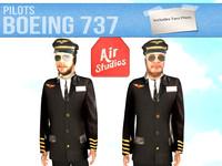 3d model boeing 737 pilots