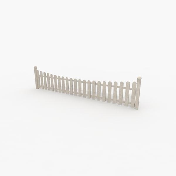 3d fence white model