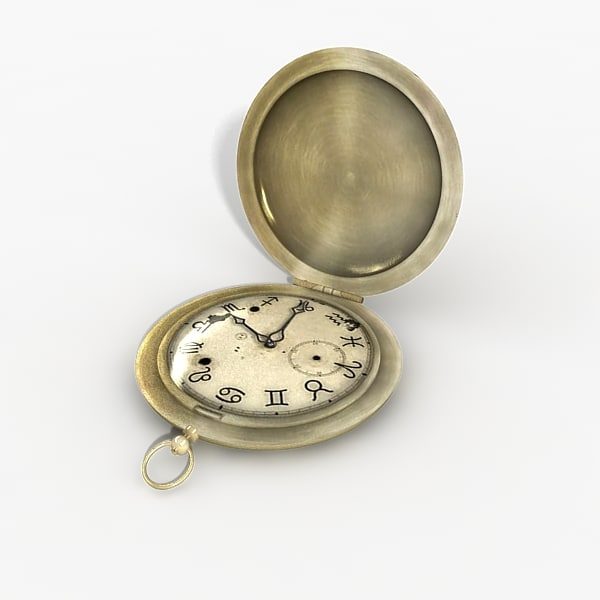 3d model pocket clock