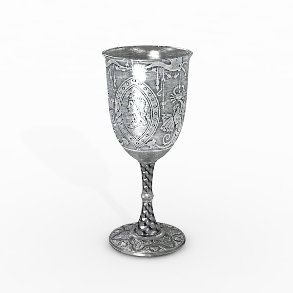 3ds max silver goblet