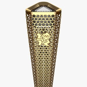 2012 olympics torch obj