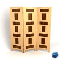 3d room divider