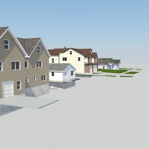 houses roofs decks 3d max