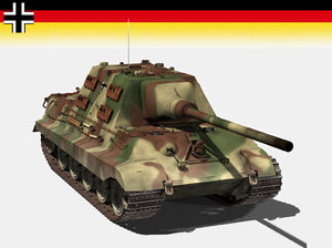 3d german jagdtiger tiger model
