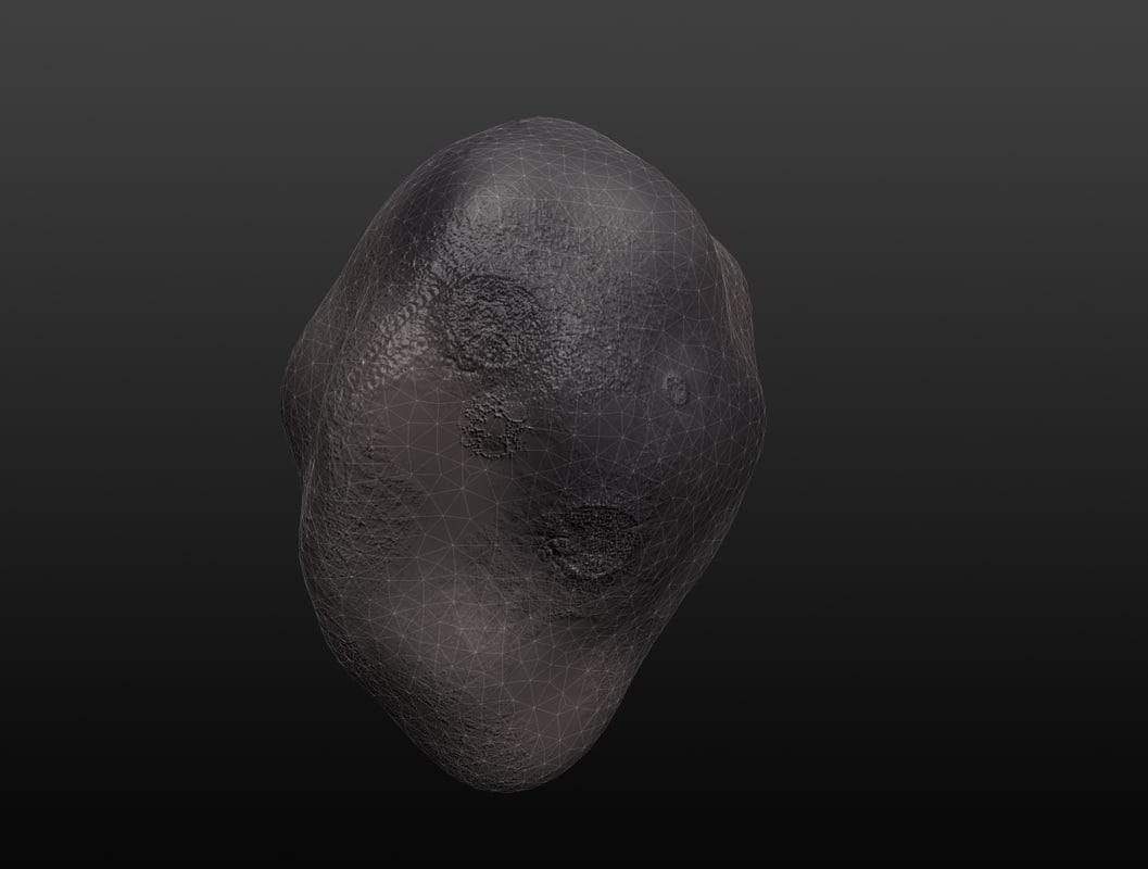meteor 3d obj