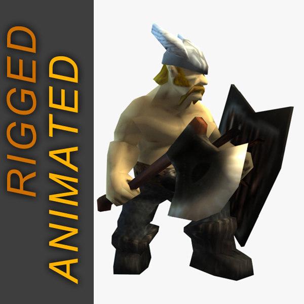 viking character 3d max
