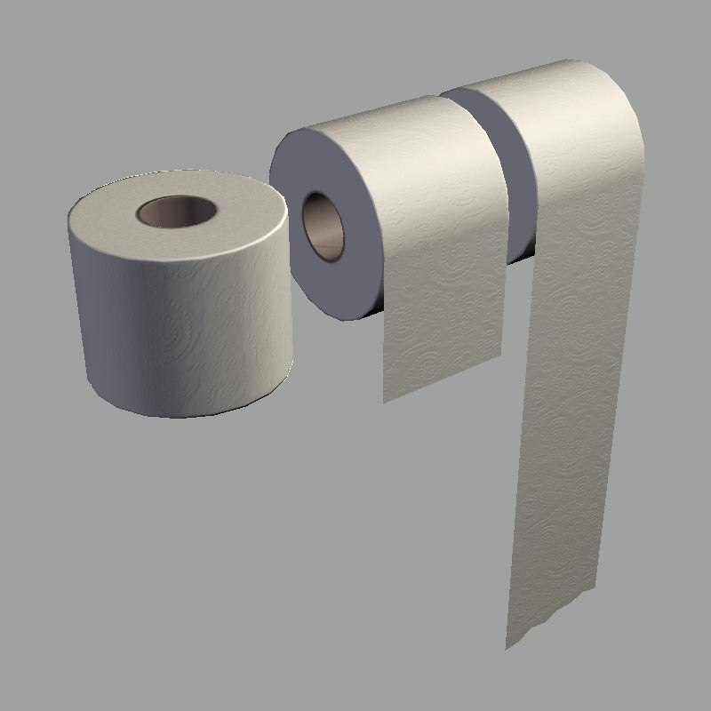 toilet paper 3d obj