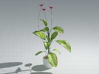 realistic plant 3d 3ds