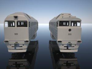 3d model russian diesel locomotive 2te116