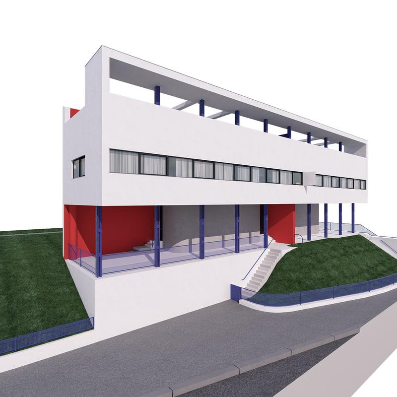 3d modern architecture building