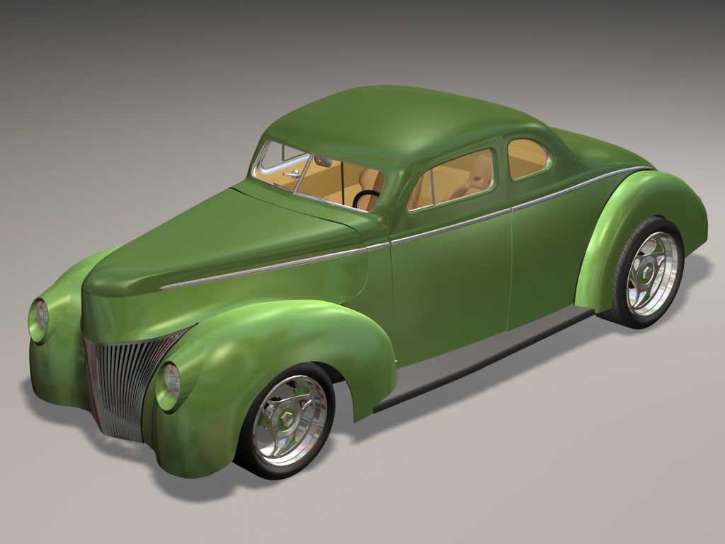 3ds max 1940 custom classic hot rod